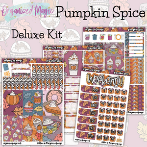 Pumpkin Spice Deluxe weekly planner sticker kit