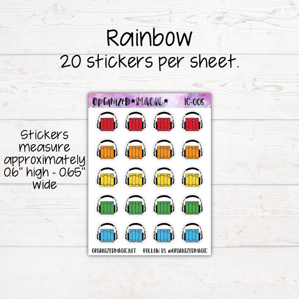 Audio Books Planner Stickers