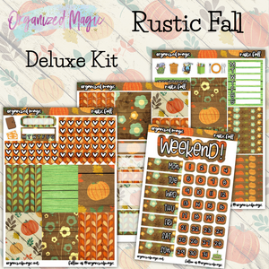 Rustic Fall Deluxe Weekly planner sticker kit
