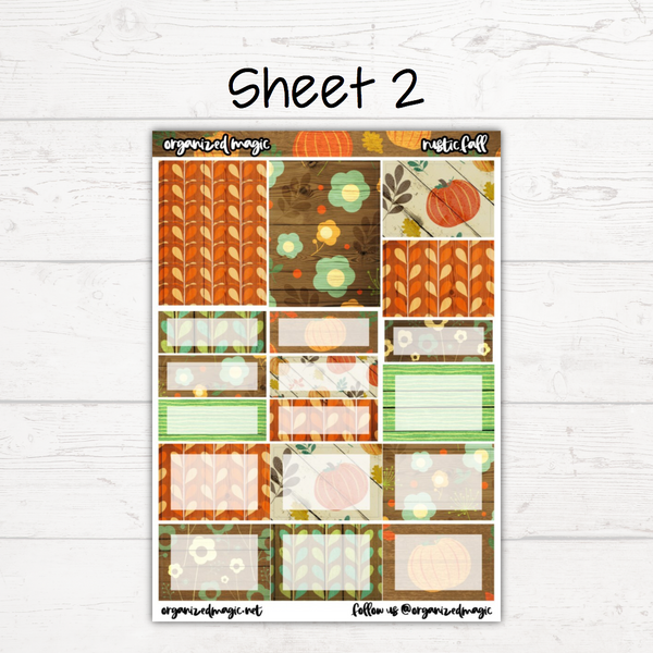 Rustic Fall Deluxe Weekly Kit