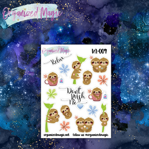 kawaii sloth planner stickers