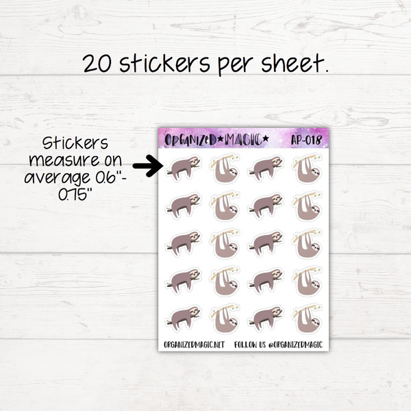 Sloth Planner Stickers - Restyled