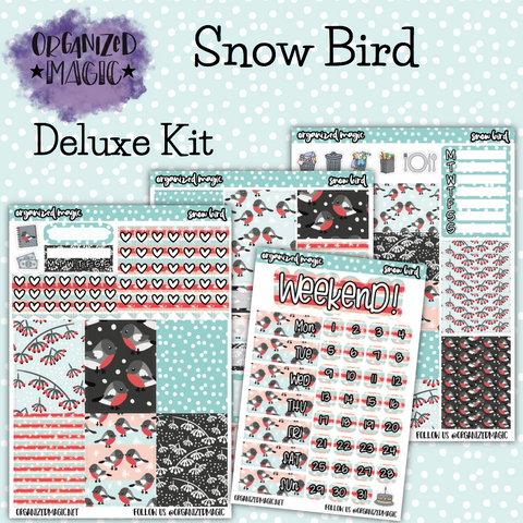 Snow Bird Deluxe weekly planner sticker kit