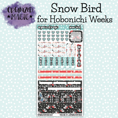 Snow Bird Hobonichi Weeks planner stickers
