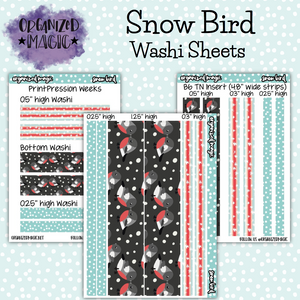 Snow Bird washi sheet stickers