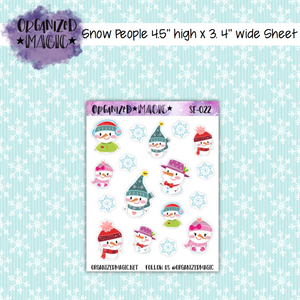 Snow People planner stickers