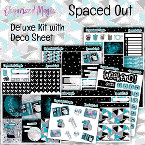 Spaced Out deluxe weekly planner sticker kit