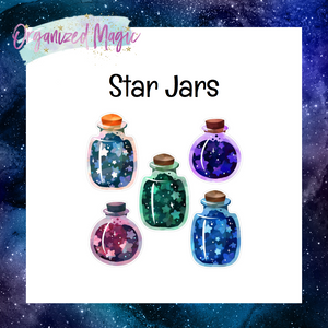 star jar planner die cut stickers