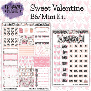 Sweet Valentine B6 Mini Kit planner stickers