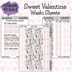Sweet Valentine Washi sheets