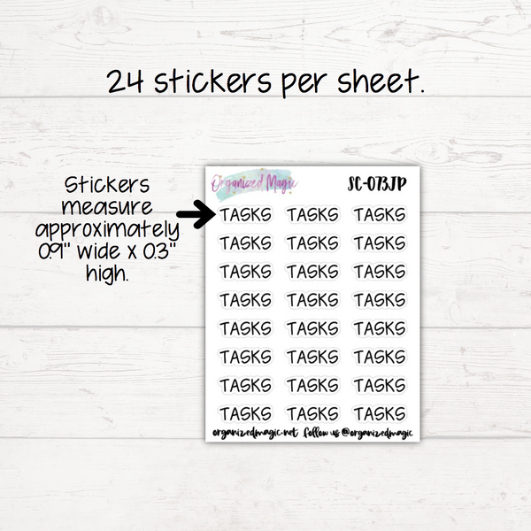 Tasks Planner Stickers - Headers