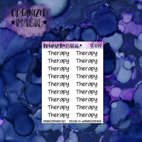 Therapy script planner stickers