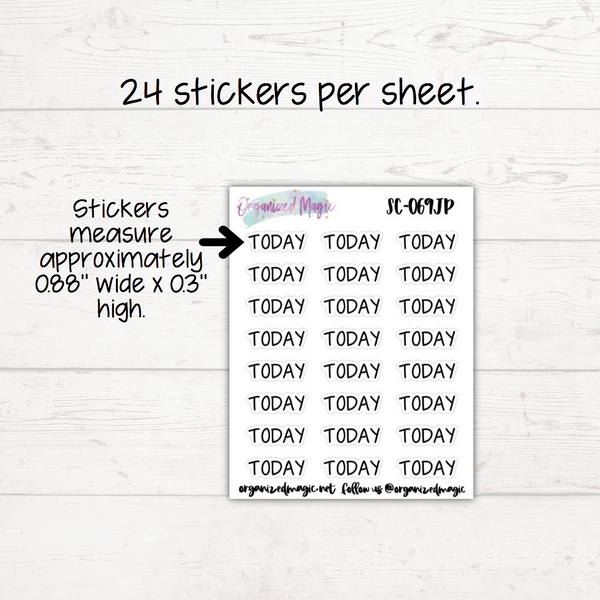 Today Planner Stickers - Headers