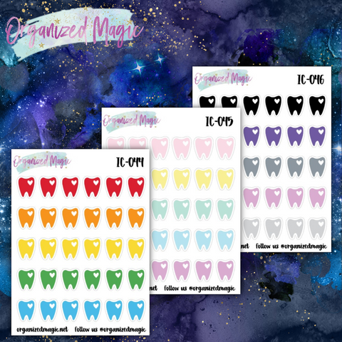 dental appointment planner stickers