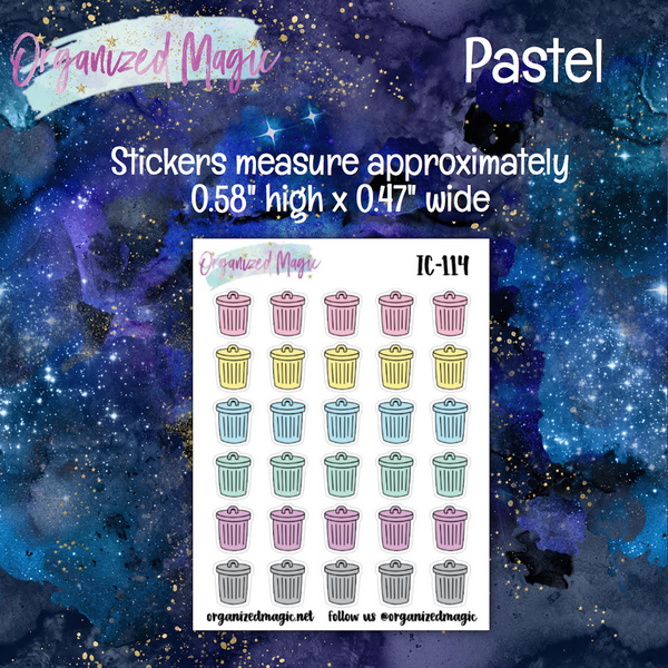 Trash Can Planner Stickers