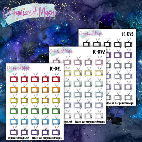 television icon planner stickers
