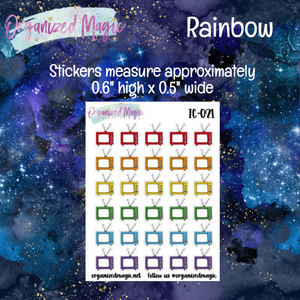 Televisions Planner Stickers