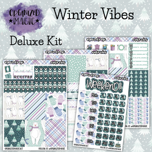 Winter Vibes Deluxe weekly planner sticker kit