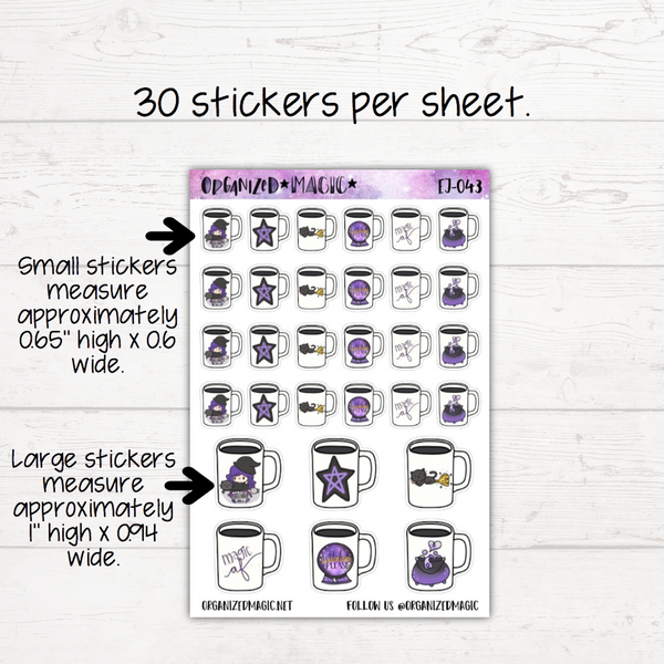 Witchy Mug Planner Stickers