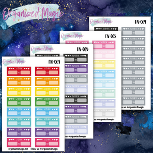 Daily Work schedule planner stickers