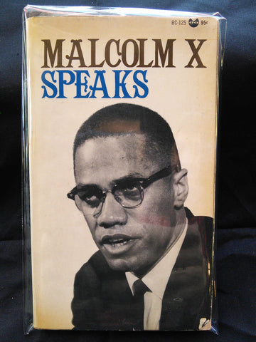 Malcolm X Speaks First Printing Paperback 1965 - Grove Press Books USED
