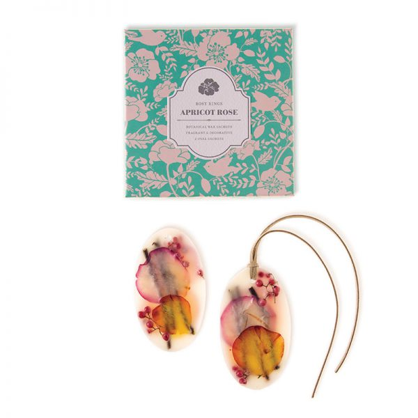 Oval Botanical Wax Sachets – Apricot Rose