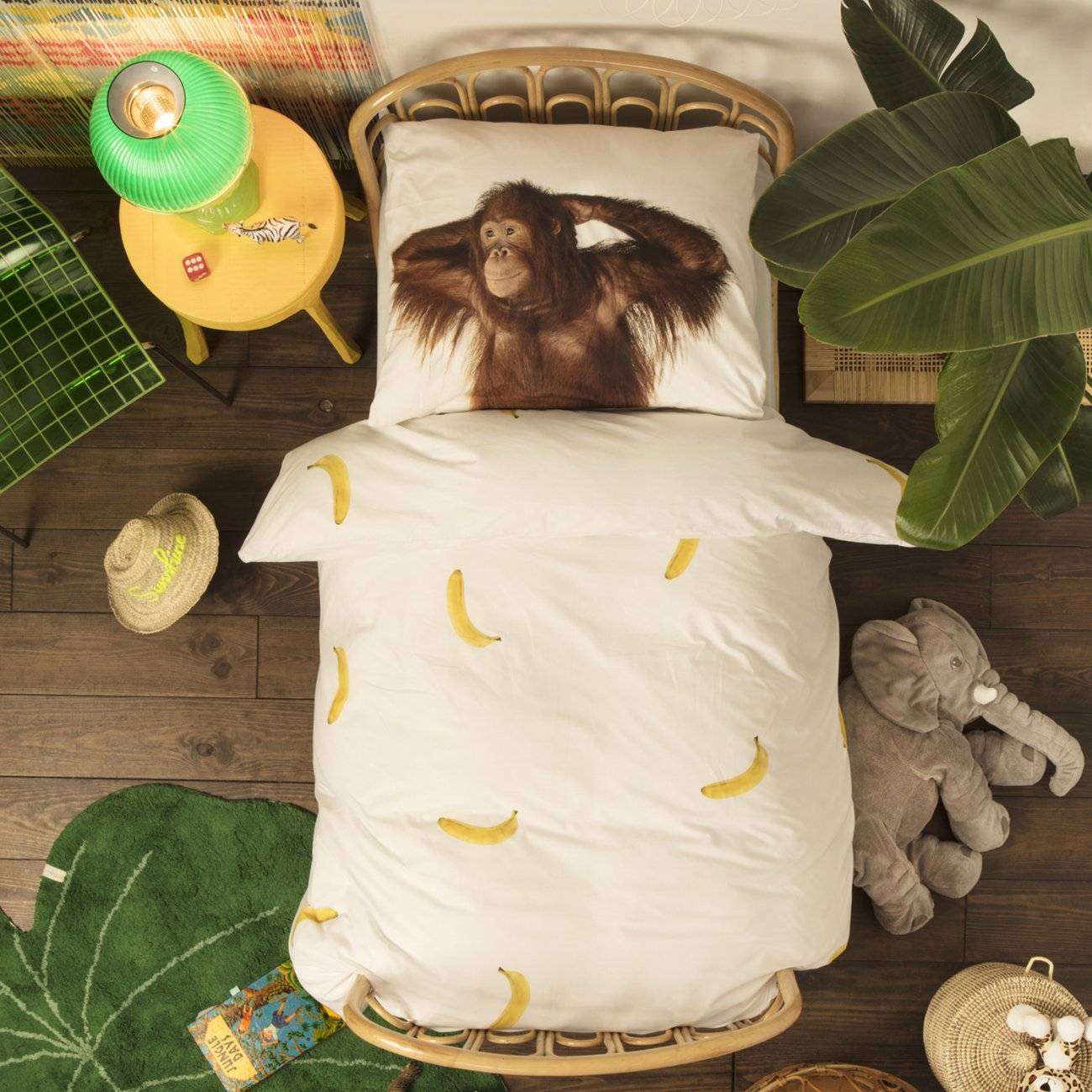 Banana Monkey duvet cover