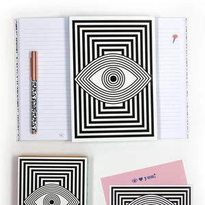 Now House by Jonathan Adler Wink A5 Notebook