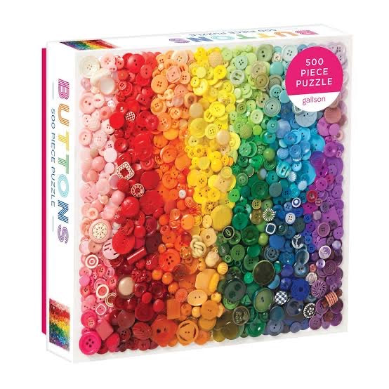 Rainbow Buttons 500 Piece Jigsaw Puzzle