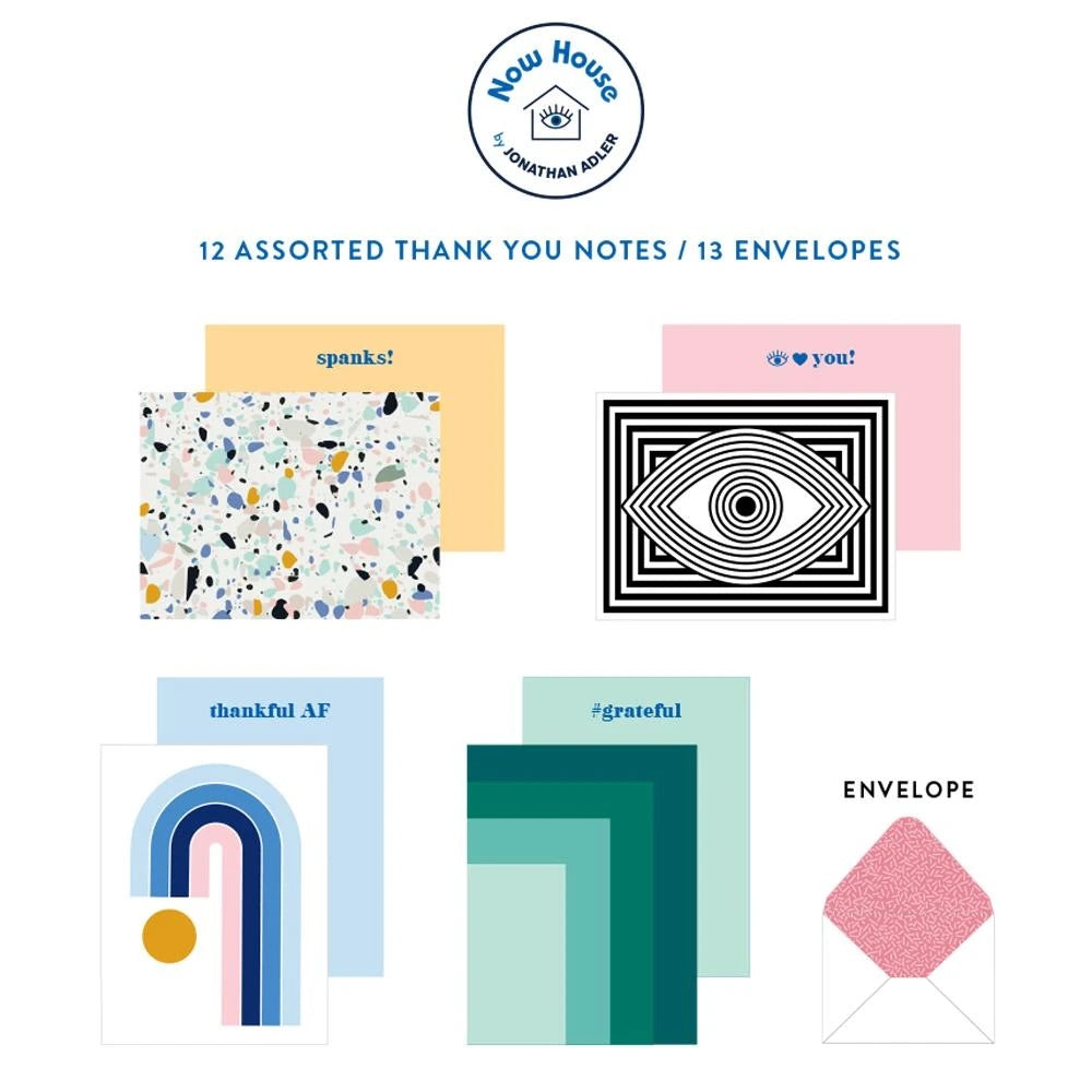 Now House by Jonathan Adler Thank You Notecard Set
