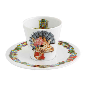 Set 4 Espresso Cups and Saucers