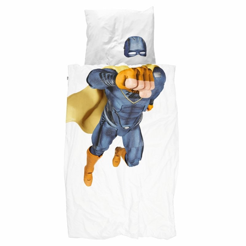 Superhero Blue Duvet Cover