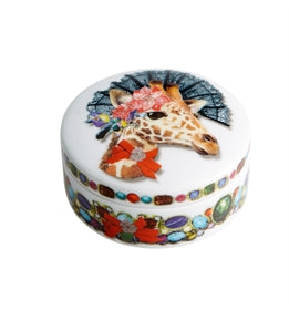 Love Who You Want Small Round Box Doña Jirafa