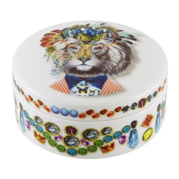 Love Who You Want Small Round Box Jungle King