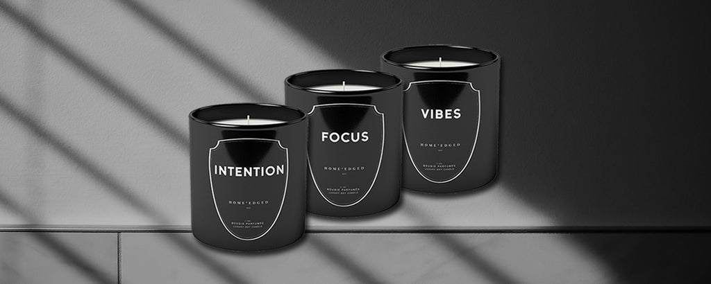 Luxury candles by HOME'edged NYC