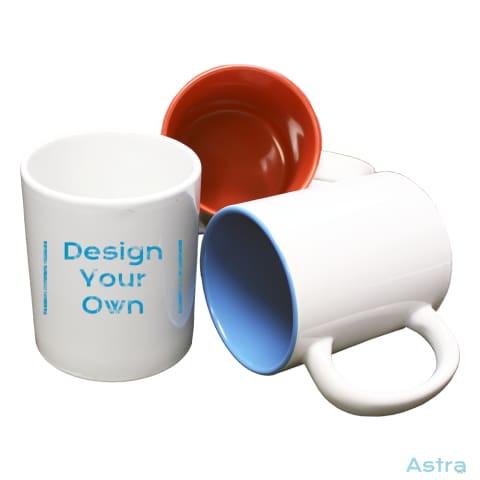 11Oz Coffee Mug Custom Drinkware Blank Blue Ceramic Custom_Drink Design-Your-Own-1 $9.99 Astraest.com: Astraest