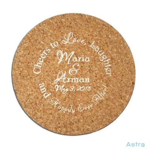 50 Count -Personalized Wedding Favor Cork Drink Coasters Round Bulk Orders Bulk Bulk-Items Corporate $99.99 Astraest.com: Astraest