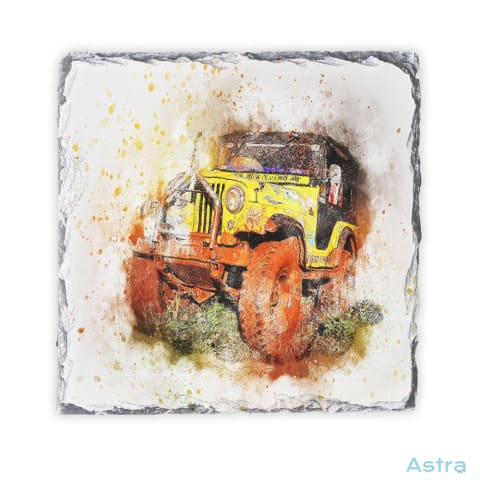 Abstract Jeep Square Photo Slate Home Decor 10-20 Homedecor Household-1 Photo-Slate Photo-Slates $16.95 Astraest.com: Astraest