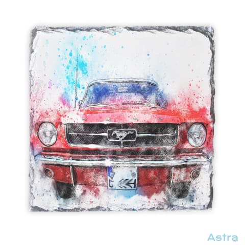 Abstract Mustang Square Photo Slate Home Decor 10-20 Abstract Fathers-Day Homedecor Household-1 $16.95 Astraest.com: Astraest
