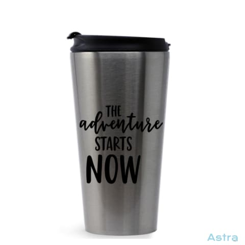 Adventure Starts 16Oz Stainless Steel Tumbler Stainless Silver Drinkware Drinkware Mothers-Day Predrink Premade Sayings $22.99 Astraest.com: