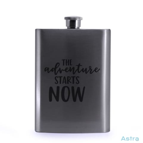 Adventure Starts 8Oz Stainless Steel Hip Flask Drinkware 20-30 Drinkware Flask Mothers-Day Predrink $24.99 Astraest.com: Astraest