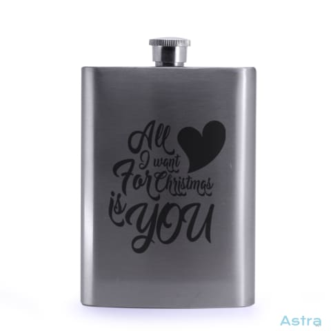 All I Want 8Oz Stainless Steel Hip Flask Drinkware 10-20 Flask Silver Stainless Stainless-Steel $19.99 Astraest.com: Astraest