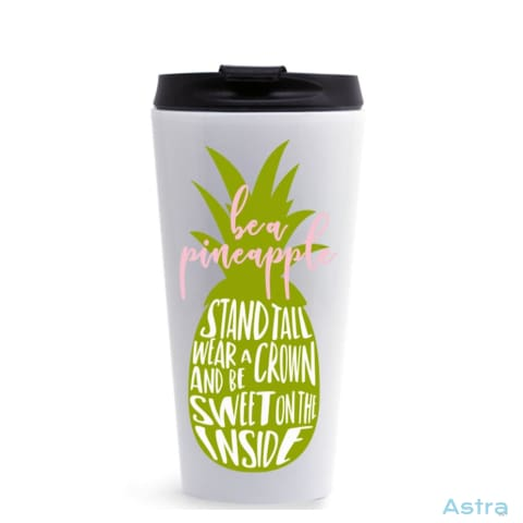 Be A Pineapple 16Oz Stainless Steel Tumbler White Drinkware 10-20 Comic Drinkware Predrink Premade $14.99 Astraest.com: Astraest