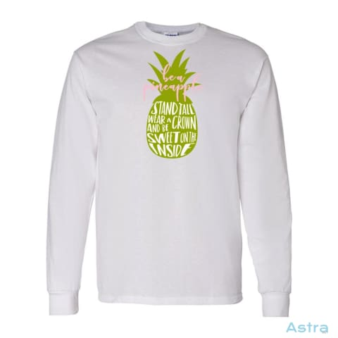 Be A Pineapple Heavy Cotton Long Sleeve T-Shirt Apparel Apparel Black Clothing Graphite-Heather Long-Sleeve $23.95 Astraest.com: Astraest