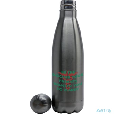 Be The Doctor Parents Want You To Marry Coke Bottle Shaped Water Bottle Stainless Silver Drinkware 10-20 Drinkware Feature Featured-Products