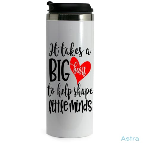 Big Teaching Heart 14Oz Stainless Steel Bottle White Drinkware Birthday Drinkware Mothers-Day Predrink Premade $19.99 Astraest.com: Astraest