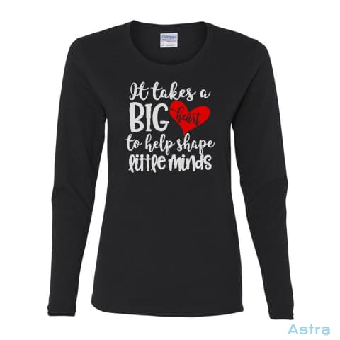 Big Teaching Heart Heavy Cotton Womens Long Sleeve T-Shirt Apparel Apparel Black Clothing Heliconia T-Shirt $23.95 Astraest.com: Astraest