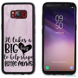 Big Teaching Heart Personalized Iphone 6 7 8 X Samsung S8 S8 Plus Case Phone Case 10-20 Apple Custom Phone Feature Featured-Products $14.99