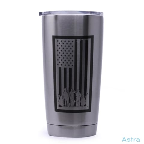 Bordered Flag 20Oz Stainless Steel Tumbler Drinkware Drinkware Forth Independence-Day Memday Memorial-Day $24.99 Astraest.com: Astraest