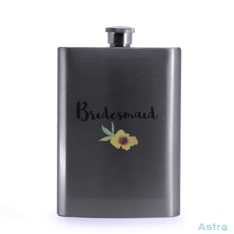 Bridesmaid 8Oz Stainless Steel Hip Flask Drinkware Drinkware Flask Predrink Premade Silver $19.99 Astraest.com: Astraest